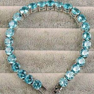 RARE - Blue Paraiba Apatite Tennis Bracelet